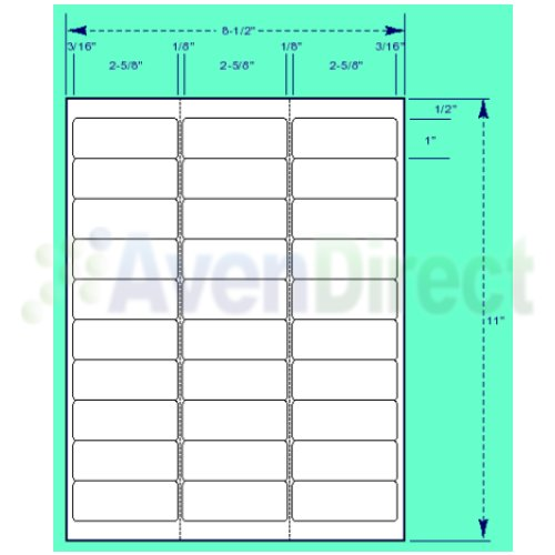 Label catalog laser labels inkjet labels amp free label for Avery template 5660 microsoft word