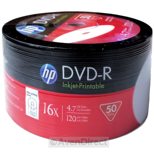 picture regarding Ink Jet Printable Dvd called Information around 100 (50x2) HP 16X White Inkjet Hub Printable 4.7GB DVD-R [Free of charge Precedence Send out]