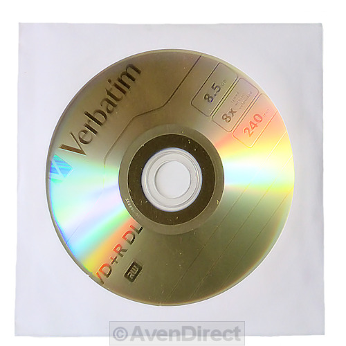 5 Verbatim 8x Azo Logo 8 5gb Dvd R Dl With Sleeves Double